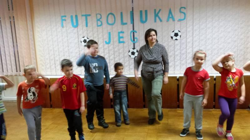 """Sportinė popietė """"Futboliukas - jėga"""""""